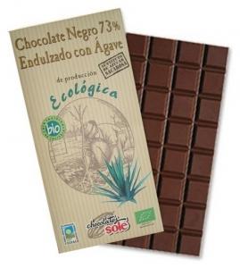 Ciocolata neagra BIO cu sirop de Agave, 73% cacao, Chocolates Sole 100 g