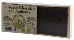 Chocolates Sole–Ciocolata BIO Turron cu alune de padure, (minim 30% continut de cacao) 200 g