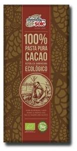 Ciocolata neagra BIO 100% cacao, Chocolates Sole100g