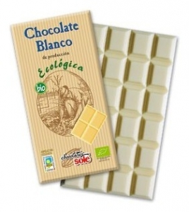 Ciocolata alba BIO Chocolates Sole, 100 g