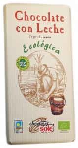 Ciocolata cu lapte Bio, Chocolata Sole, 100 g