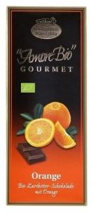 Ciocolata amaruie cu portocale, 55% cacao, 100 g