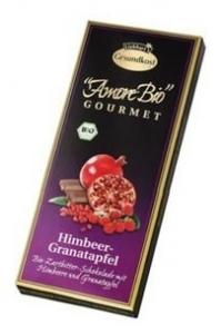 Ciocolata amaruie cu zmeura si rodie, 55% cacao, 100 g