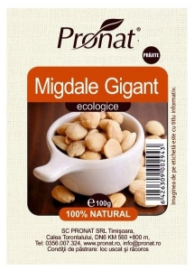 Migdale gigant bio prajite  100g