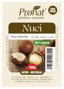 Nuci Macadamia crude, 100 g