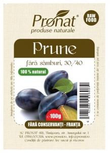 Prune fara conservanti si samburi, 100 g