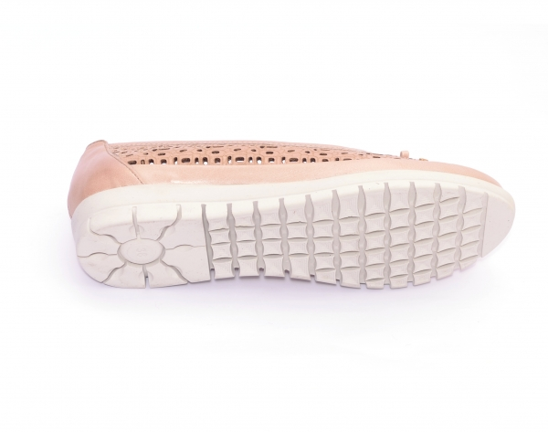 Balerini de piele Relax Nevalis roz 5