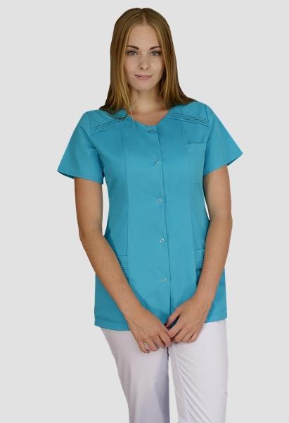 Bluza medicala albastra