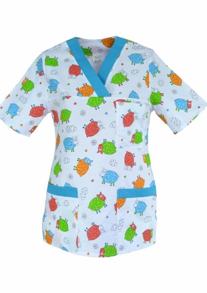 Bluza medicala colorata