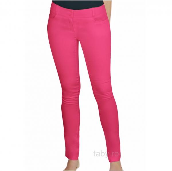 Pantaloni medicali Slimfit roz inchis 0