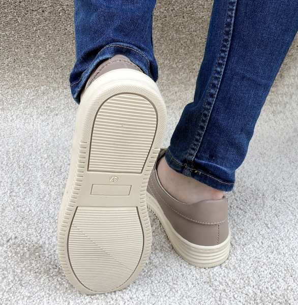 Pantofi casual dama 521 Nude 3