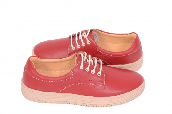 Pantofi casual dama 521 Rosu 3