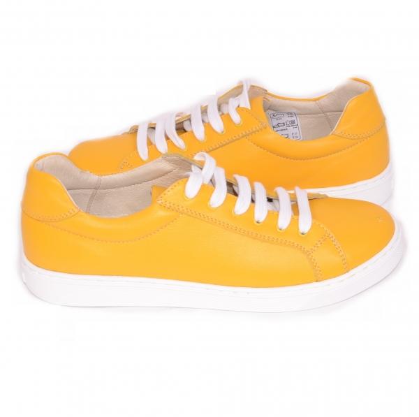 Pantofi casual dama 564 Galben 4