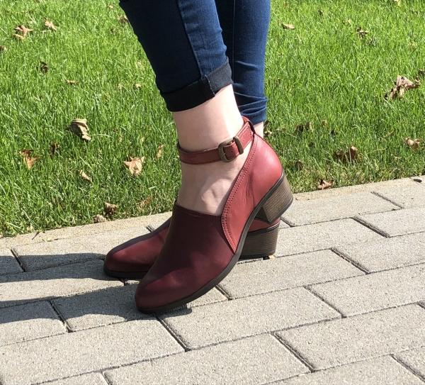 Pantofi confortabili dama 557 Bordo 1