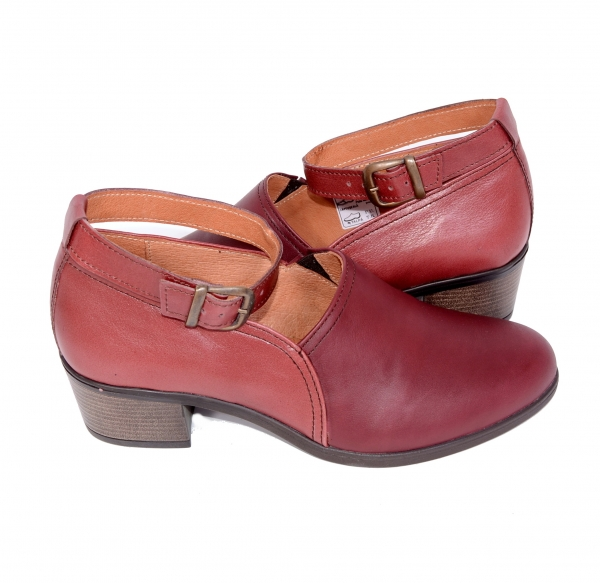 Pantofi confortabili dama 557 Bordo 4