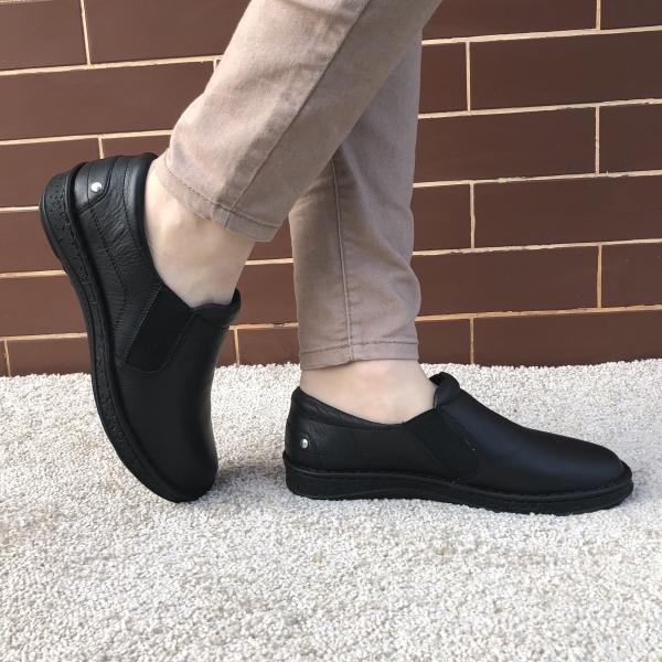 Pantofi din piele dama Medline 274/1 Negru 0