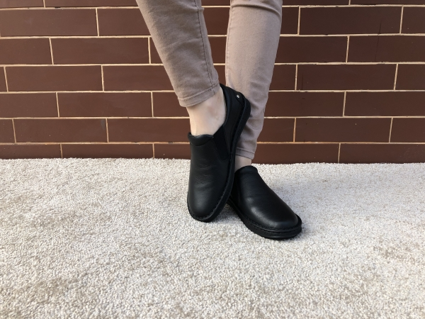 Pantofi din piele dama Medline 274/1 Negru 2