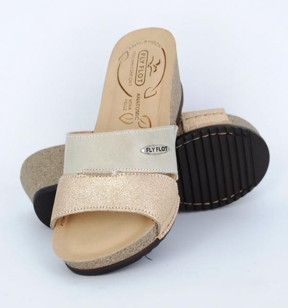 Papuci confortabili Fly Flot EXS0404 Bej 3