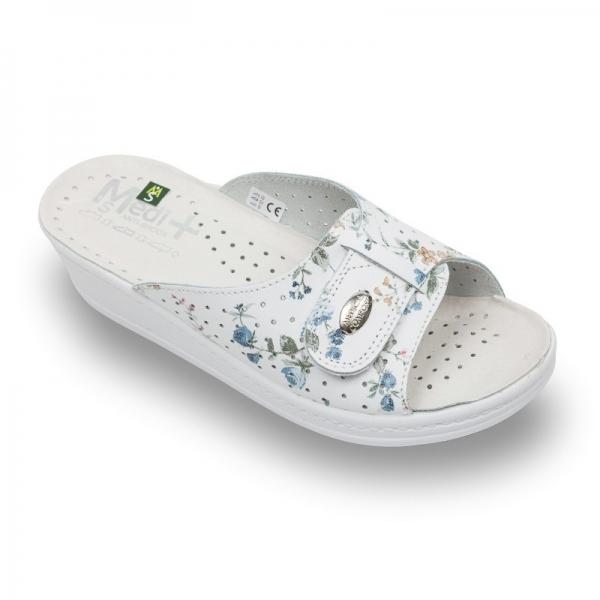 Papuci dama Medi+ 312SB cu flori 0