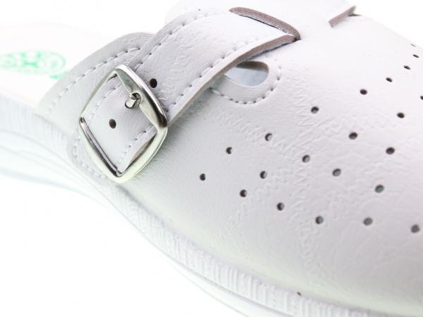 Papuci de casa din piele ecologica DF1803WH 4