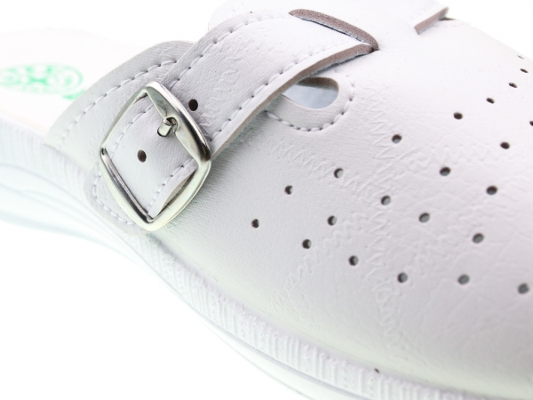 Papuci din piele ecologica DF1803WH 4