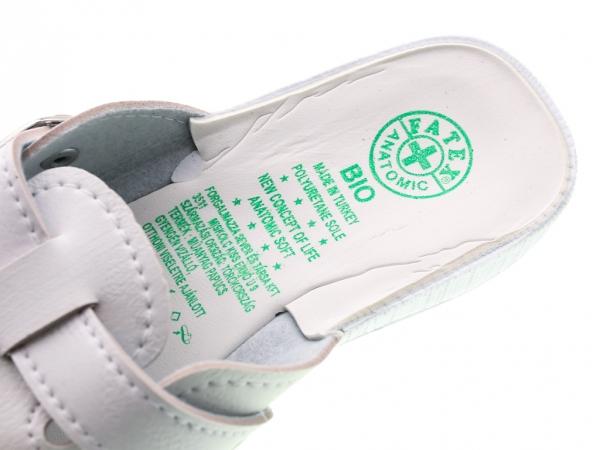 Papuci de casa din piele ecologica DF1803WH 3
