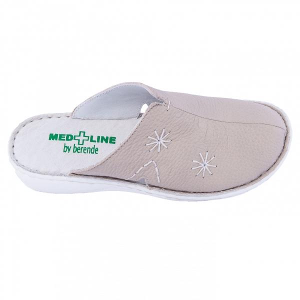 Saboti de piele Medline, Bej 298 1