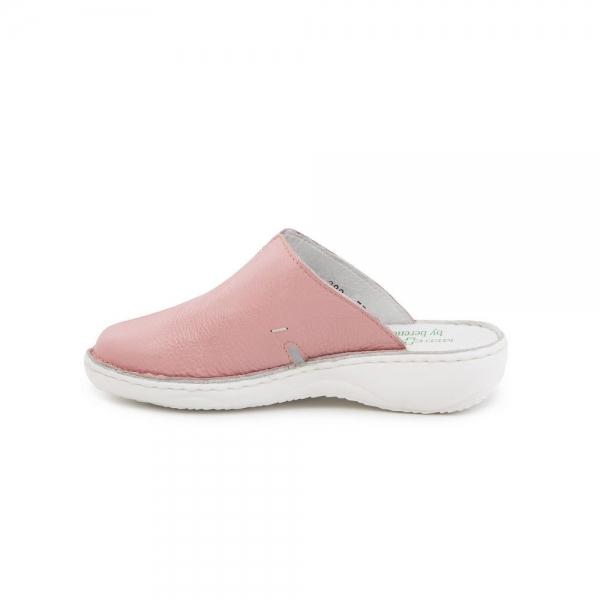Papuci medicinali de piele Medline, Roz