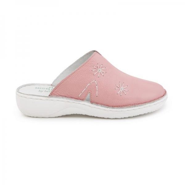 Papuci medicinali de piele Medline, Roz 0