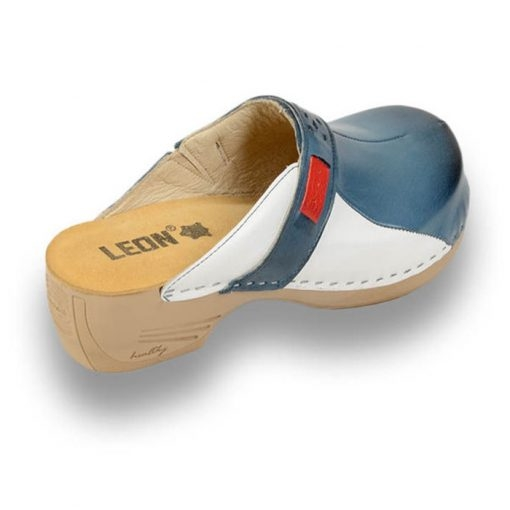Saboti medicali dama - Leon 154 Albastru cu Alb