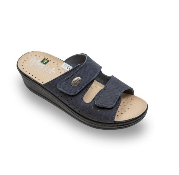 Papuci confort dama  Medi+ 410SJ Albastru