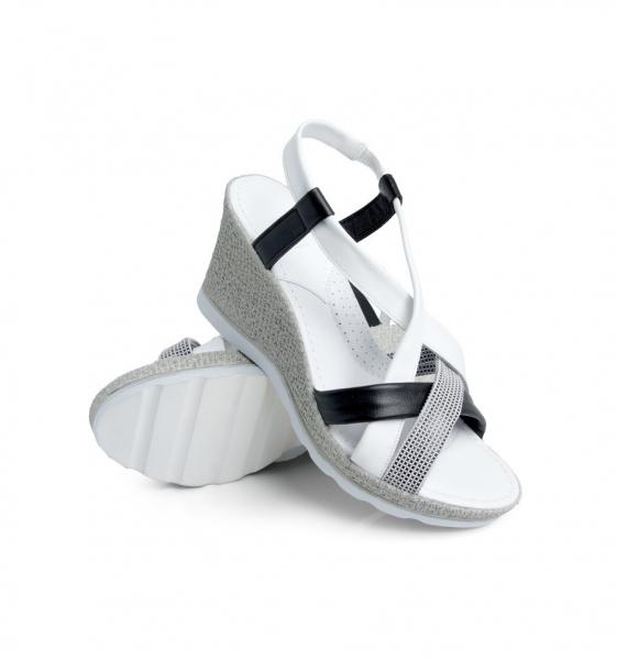 Sandale confortabile Batz Malibu EXS100 Alb 2