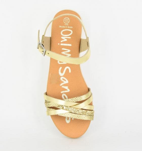 Sandale confortabile cu catarama OMS 4312 Auriu