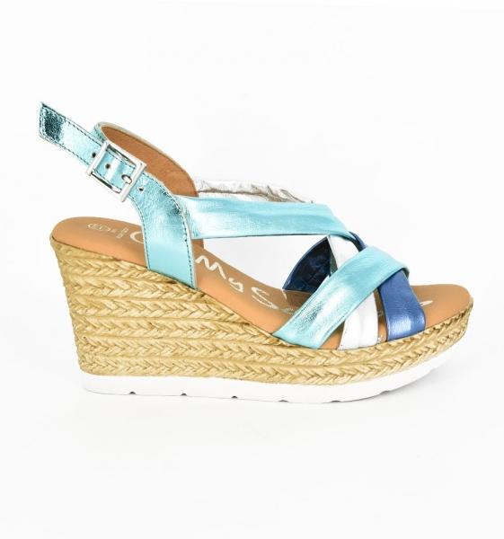 Sandale confortabile cu platforma EXS0658 Verde 1