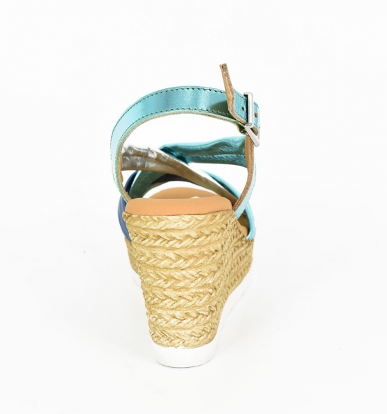 Sandale confortabile cu platforma EXS0658 Verde