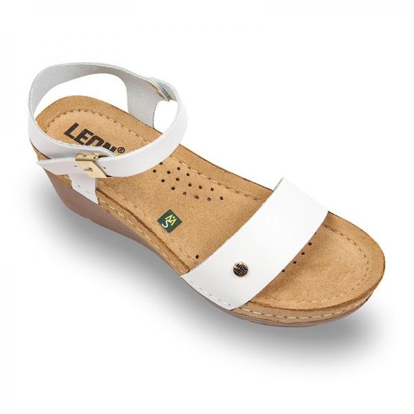 Sandale confortabile Leon 1015 Alb 0