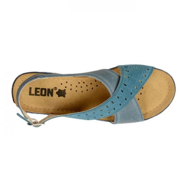 Sandale confortabile Leon 1030 Albastru