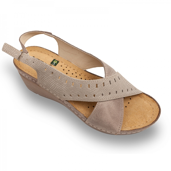 Sandale confortabile Leon 1030 Gri-Maroniu