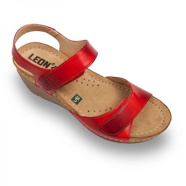 Sandale confortabile Leon 1041 Rosu