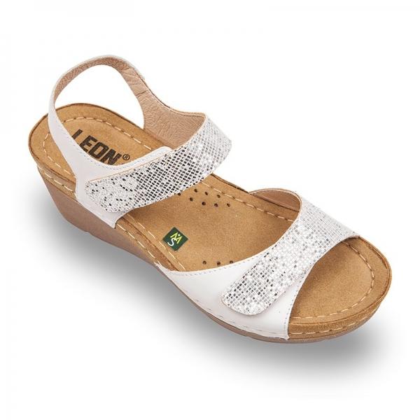 Sandale confortabile Leon 1041 Silver 0