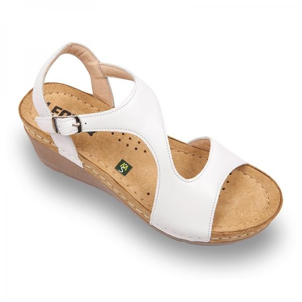 Sandale confortabile Leon 1050 Alb