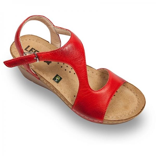 Sandale confortabile Leon 1050 Rosu