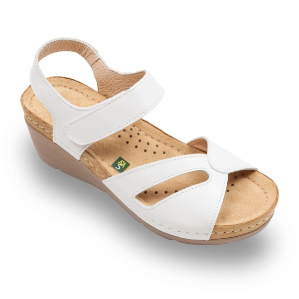 Sandale confortabile Leon 1056 Alb