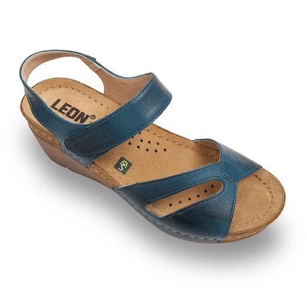Sandale confortabile Leon 1056 Albastru