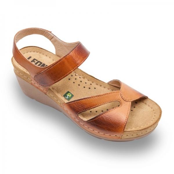 Sandale confortabile Leon 1056 Maro
