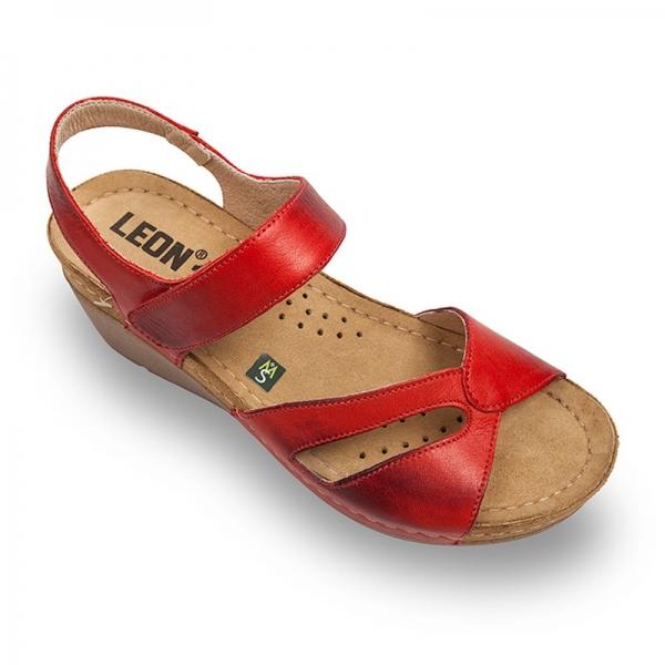 Sandale confortabile Leon 1056 Rosu