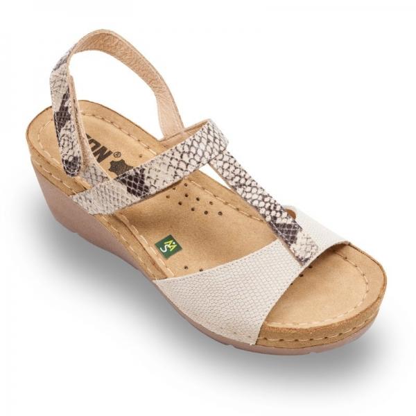 Sandale confortabile Leon 1061 Bej