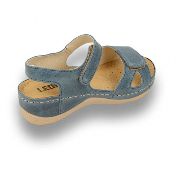 Sandale confortabile Leon 935 Albastru 2
