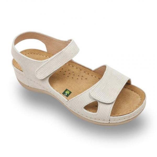 Sandale confortabile Leon 935 Bej-cu imprimeu
