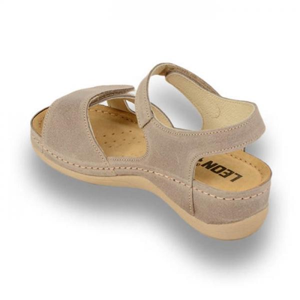 Sandale confortabile Leon 935 Gri-Maroniu 2